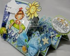 Summer Days Step Card  tutorial: http://weeklyscrapper.com/summer-days-side-step-card/