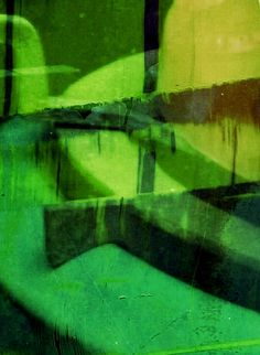 Green abstract by mila blau