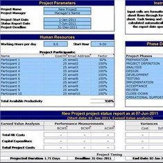 Project Management Plan Templates Free Sample Example - Excel project management template with gantt schedule creation
