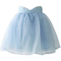Chicwish Sweet Memory Pastel Blue Organza Skirt ($38) ❤ liked on Polyvore featuring skirts, mini skirts, bottoms, blue, embellished skirt, mini skirt, layered skirt, sheer skirt and embellished mini skirt