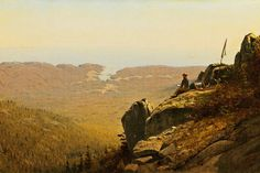 The Artist Sketching at Mount Desert, Maine II, by Sanford Robinson Gifford