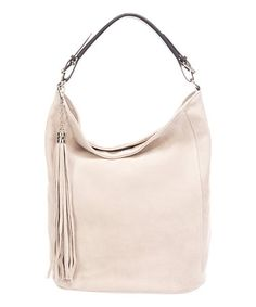 Look what I found on #zulily! Rose Tassel Leather Hobo #zulilyfinds