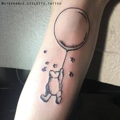 stephanie stiletto tattoo winnie the pooh blackwork linework line tattoo literature tattoo