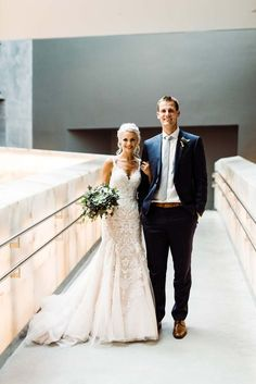 a modern copper and silver wedding in winnipeg, manitoba - bride and groom