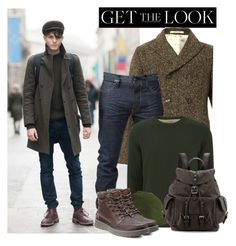 """Menswear - Get the look"" by anne-mclayne ❤ liked on Polyvore featuring Massimo Alba, Tokyo Laundry, Christys', ECCO, Frye, GetTheLook and menswear"