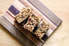 homemade chewy chocolate chip granola bars | thisweekfordinner.com