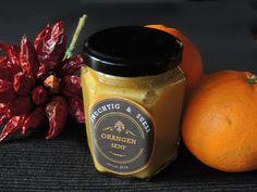 Orangensenf - fruchtig und scharf - chilirosen - Thermomix - Bimby