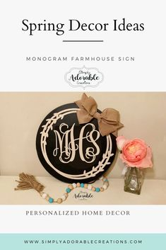 How adorable is this monogram wreath sign. It would make a great gift for a wedding or bridal shower or just hang it on your gallery wall. Monogram Signs, Monogram Wreath, Monogram Wedding, Bride Gifts, Wedding Gifts, Newlywed Gifts, Groom And Groomsmen, Porch Decorating, Wall Ideas