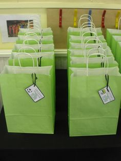 Ben 10 Party party bags - McKenzie wants to do these for the boys. I love her!