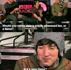 Oliver Sykes you witty Brit .