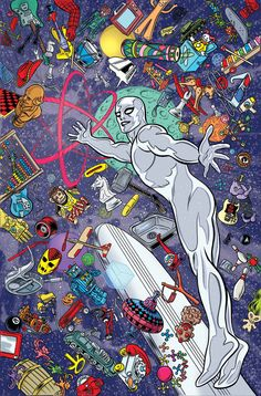 Superheroes or Whatever, Silver Surfer (2016-) #1 by Mike Allred