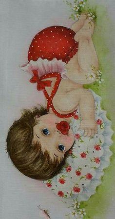 Resultado de imagen para dibujos bebes tiernos pintar en tela
