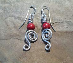 1 piece wire swirl earrings