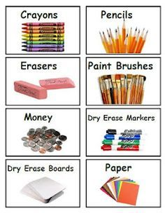 3 pages of classroom bin labels... Great special education blog!