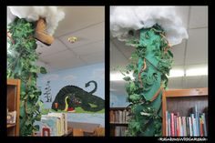 Wow! I can decorate the poles in the library to look like a beanstalk.