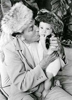 Walt and his grandson Christopher Disney Miller  Image courtesy of the Walt Disney Family  Foundation
