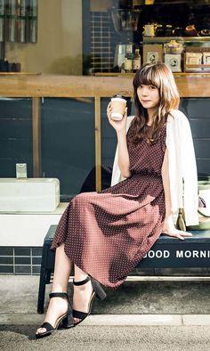 Beautiful Japanese Girl, Japanese Beauty, Dress Outfits, Fashion Outfits, Womens Fashion, Female Character Inspiration, Cute Korean Girl, Office Fashion, Girl Poses