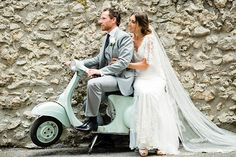 Mint Vespa! Angela and Chris' gorgeous Italian Wedding by Rochelle Cheever | www.onefabday.com