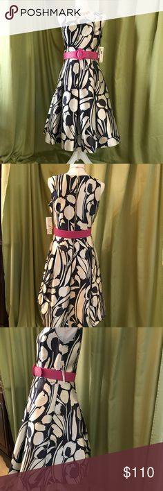 """Eliza J special occasion, party, wedding, sz 8. Special occasion or wedding dress, sleeveless.  Never worn.  Blue and white with slight shimmer in fabric.  Waist 15"""" laying flat.  Length of skirt from waist 25"""". Eliza J Dresses Wedding"""
