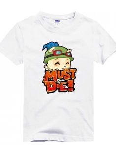 Cartoon Teemo short sleeve t shirt for men League of Legends -