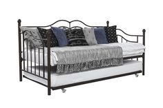 DHP The Tokyo Metal Frame Daybed and Trundle, Twin, Brown