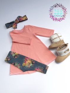 3307d33f9 Baby girl tunic , leggings and headband , baby outfit , baby girl fall  outfit 0-3 months to size 6. Outfits ...