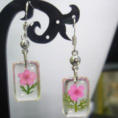 Pressed Flower Gifts | Real Pressed Dried Flower Earring