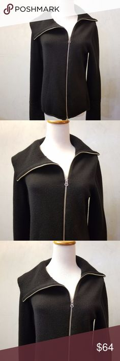 LOFT black zip-up sweater In perfect condition LOFT black zipup sweater. the zipper is a side zipper LOFT Sweaters