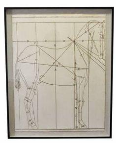 Center Schematic of Helford Horse Design - Mecox Gardens