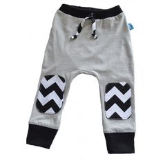 Nettle & Wolf Chevron Knee Baby Trackpants - Nettle & Wolf - Shop by Brand - Ragamuffins New Zealand