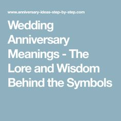 Wedding anniversary meanings 45