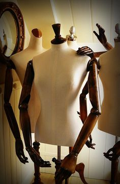 Articulated Mannequins by Corset Laced Mannequins, via Flickr