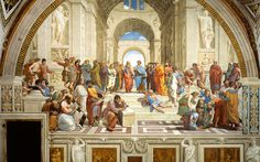 The School of Athens. painted between 1509 and Stanze di Raffaello, in the Apostolic Palace in the Vatican. Really embodies humanism in the Renaissance. Die Renaissance, Italian Renaissance Art, Renaissance Kunst, Renaissance Artists, Renaissance Paintings, Rembrandt, Art Ninja, School Of Athens, Law School