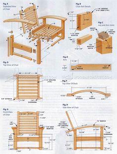 #140 Morris Chair Plans - Furniture Plans