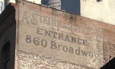 Ghostly faded ads of old city businesses | Ephemeral New York