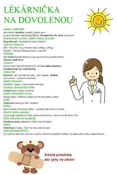 Lékárnička na cesty :: MUDr. Pavla Kolková, praktická lékařka pro děti a dorost olomouc, dětská doktorka Olomouc,pediatr Olomouc, pe
