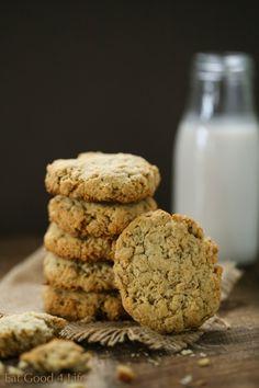 Almond oat cookies. Gluten free and vegan   Eat Good 4 Life