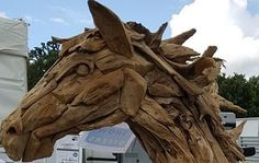Suppliers of a spectacular life-size driftwood horse, small horse sculpture and driftwood horse heads.