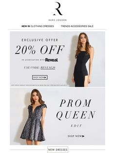 EXCLUSIVE 20% OFF & The Prom Edit! - Rare London