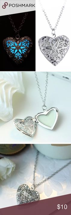 """🆕Valentine heart glow in the dark necklace Brand new. Approx 18.5"""" with 2"""" extender. Glows in the dark. Exposure to direct light, high wattage bulbs, night lamps for few hours may be needed to obtain the maximum glow. ‼️Please ❌trade and ❌offers. Price is firm unless bundled.‼️ Elegant Jewelry Jewelry Necklaces"""