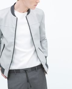 ZARA - MAN - CUT WORK FAUX LEATHER JACKET