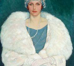 Miss Mary Macintosh,  1924 or earlier oil on canvas, by Randolph S. Hewton (1888-1960), The Beaver hall group