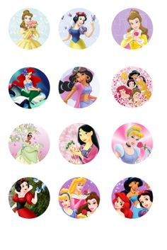 "Free Collage Sheets: Free Bottle Cap - 1"" Circle Collage Sheets"