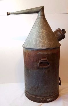 Vintage Antique Pre-Prohibition Moonshine Still Tank Boiler Whiskey Old Metal