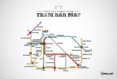 Amsterdam's First Official Tram Bar Map