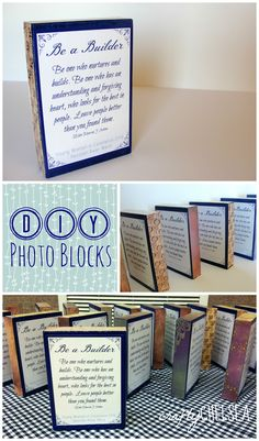 Crafty Chelsea: DIY Wood Photo Blocks--an easy craft that is cheap and great for gifts!