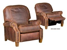 Hickory Furniture Leather Western Reclining