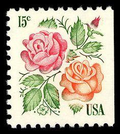 15c Roses single