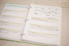 Project Life planner - free printable! (I am getting the itch to do the weekly...or maybe monthly... PL soon.)