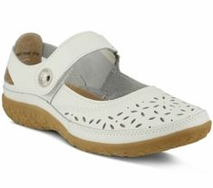 Spring Step Women's Naturate Mary Jane White Leather (euro women's 41 (us wms wms w (wide) - Wide) Supportive Sandals, Orthopedic Shoes, Most Comfortable Shoes, Wide Shoes, Walking Boots, Spring Step, Shoes Outlet, Shoe Brands, Me Too Shoes